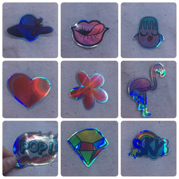 holographic sticker bundle